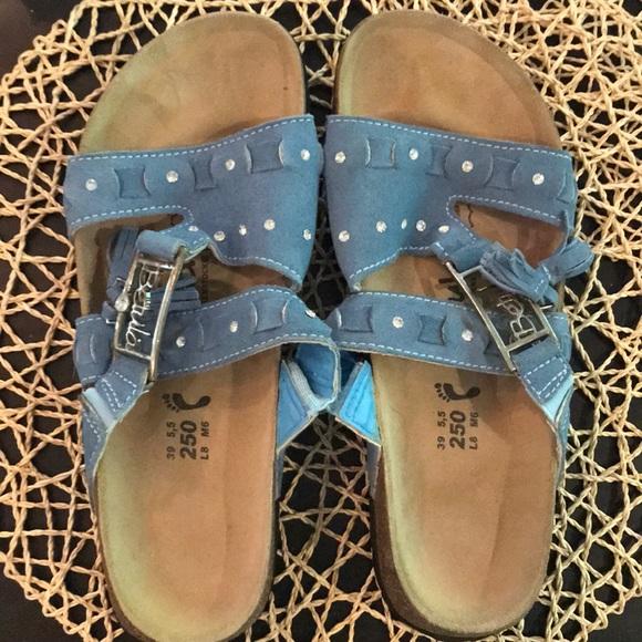 43260fc44 Birkenstock Shoes - Birkenstock Betula Nubuck Crystal Bling Sz 39